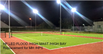 Tennis Court Club Lighting Upgraded to HP LED lighting specifically designed High Powered LED Modules.  Gallery Thumbnail