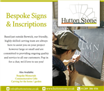 We do Bespoke signs & Inscriptions. Gallery Thumbnail