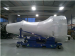 Jet engine wrapped for storage and transport. Gallery Thumbnail