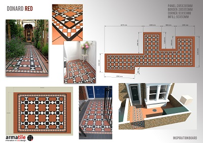 Victorian Style Tiles manufactured in Armagh by Armatile Gallery Image