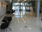 white quartzstone tile bonded onto our calcium sulphate raised floor panel Gallery Thumbnail