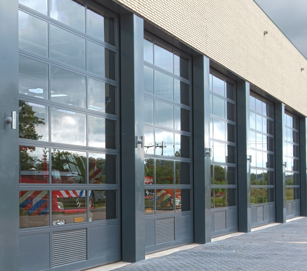 Crawford Glazed Industrial Doors - ideal for showrooms and fire/rescue stations Gallery Image