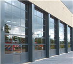 Crawford Glazed Industrial Doors - ideal for showrooms and fire/rescue stations Gallery Thumbnail