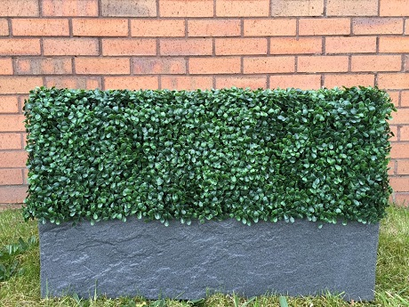 Bespoke artificial hedge planter, choice of planter and hedge panel Gallery Image