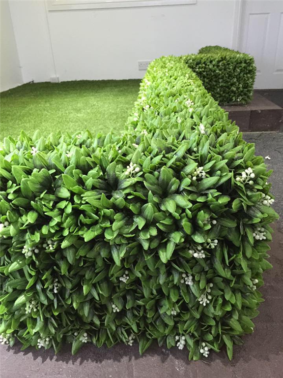 artificial floral hedge panels for garden fence, privacy wall and screening Gallery Image