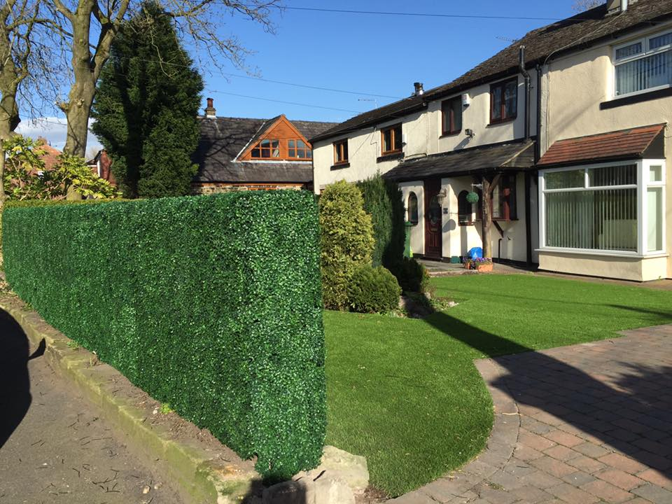 Maintenance free instant artificial boxwood hedge for front garden Gallery Image