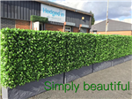 Bespoke instant hedge planters for events and roof garden Gallery Thumbnail
