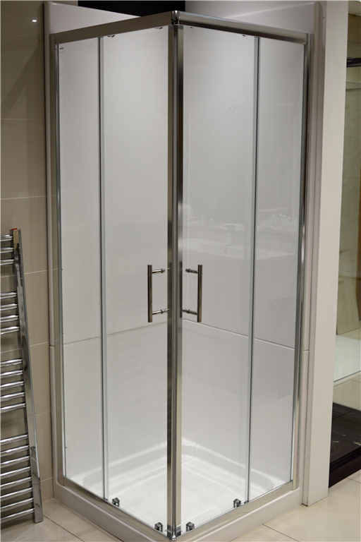 White 900 Two Door Quadrant Leak Proof Shower Pod Gallery Image