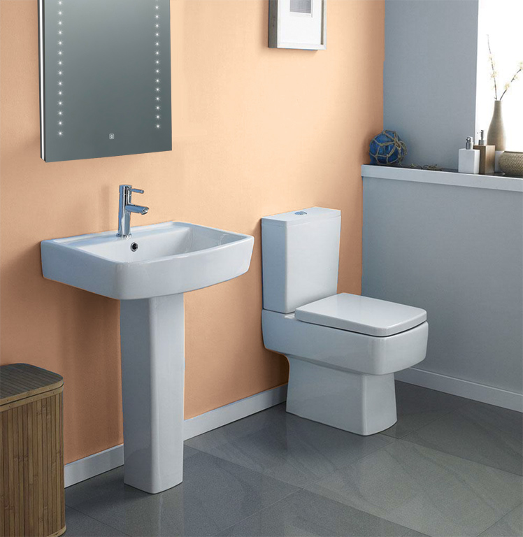 Atone Toilet & Basin With Pedestal  Gallery Image