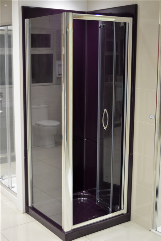 Black 760 Squared Leak Proof Shower Pod Gallery Image