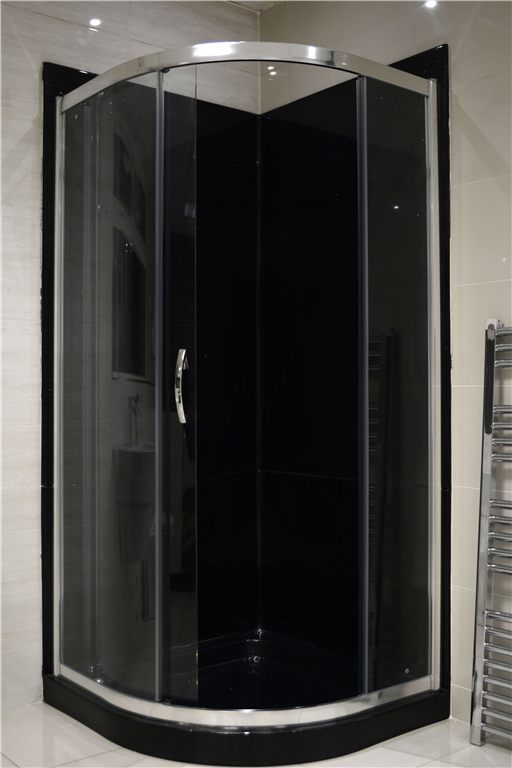 Black Granite 900 Quadrant Leak Proof Shower Pod Gallery Image