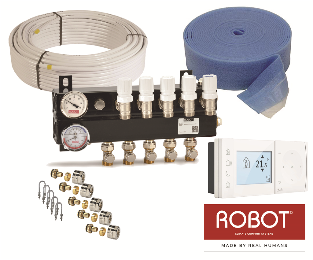 Low Temperature single zone underfloor heating kit Gallery Image