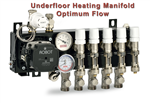 Optimum Flow Compact Manifold, with flow meters, Grundfos UPM3 pump, Robot underfloor heating Gallery Thumbnail