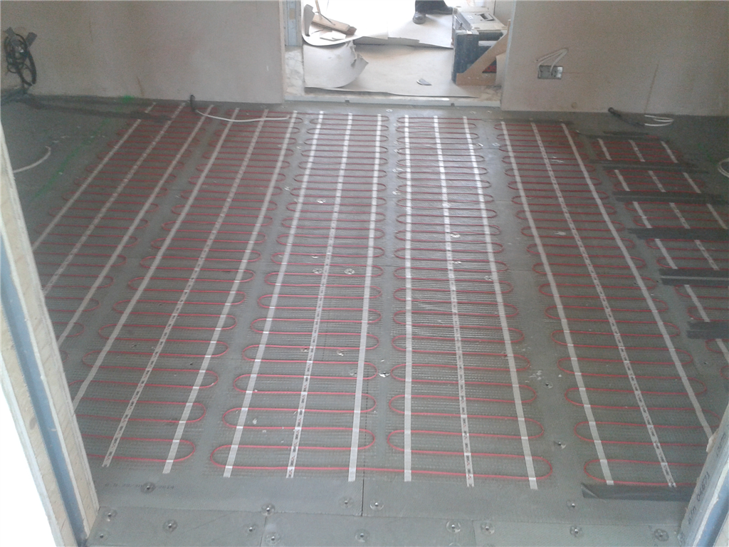 Residential electric underfloor heating project - London Gallery Image