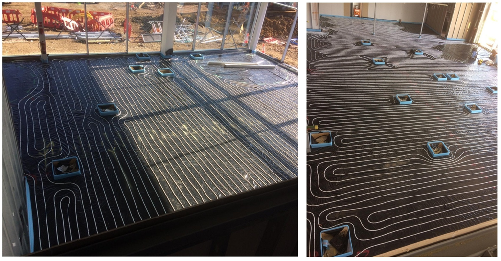Commercial wet underfloor heating project - Marshall Ford, Cambridge Gallery Image