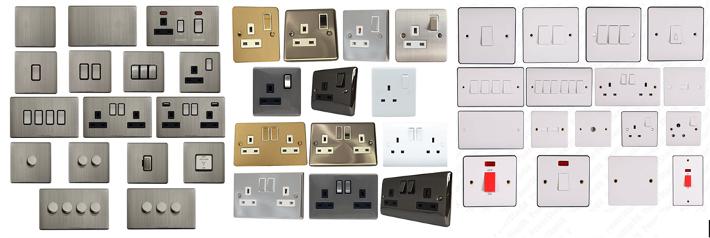 We stock a full range of Electrical Outlets, Sockets, Switches & Accessories from manufactures such as: MK, Legrand, Hamilton, Click, BG  Gallery Image