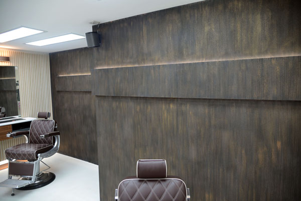 Feature walls and flooring done for this salon Gallery Image