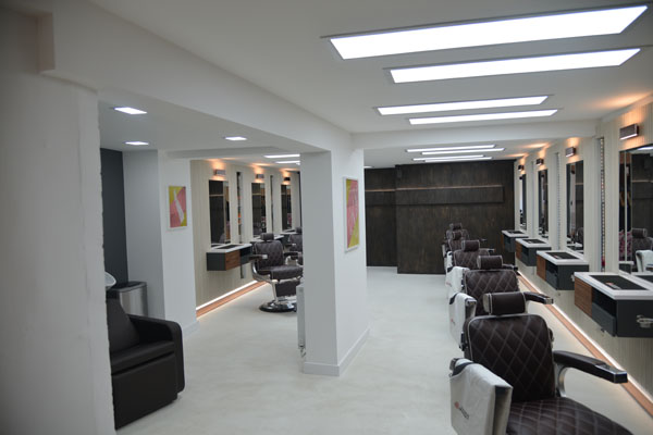 Feature walls and microcement flooring done for this salon Gallery Image