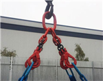 Lifting chain sling with auto-locking hooks Gallery Thumbnail