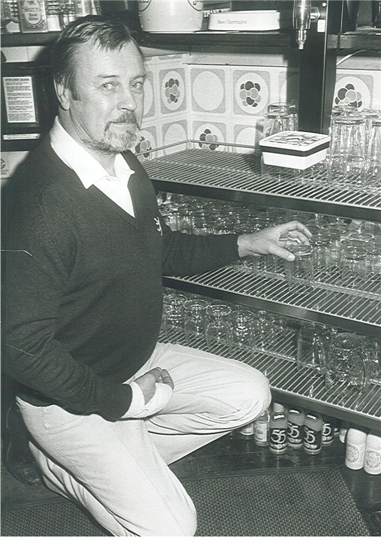 Cliff Livsey - Founder. Pictured with the first prototype of 'GLASShelf' in 1988 Gallery Image