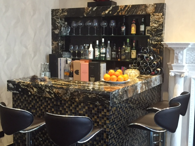 Cosmic Black Granite bar, Penthouse Suite, The Lennard Hotel, London Gallery Image