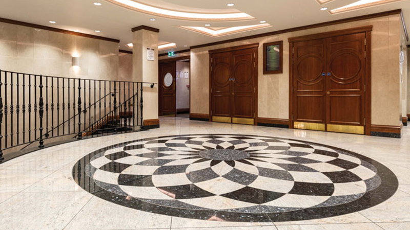 Waterjet Cut granite floor, London Gallery Image