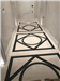 White Emperador marble and Belgian Blue limestone patterned floor, London. Gallery Thumbnail