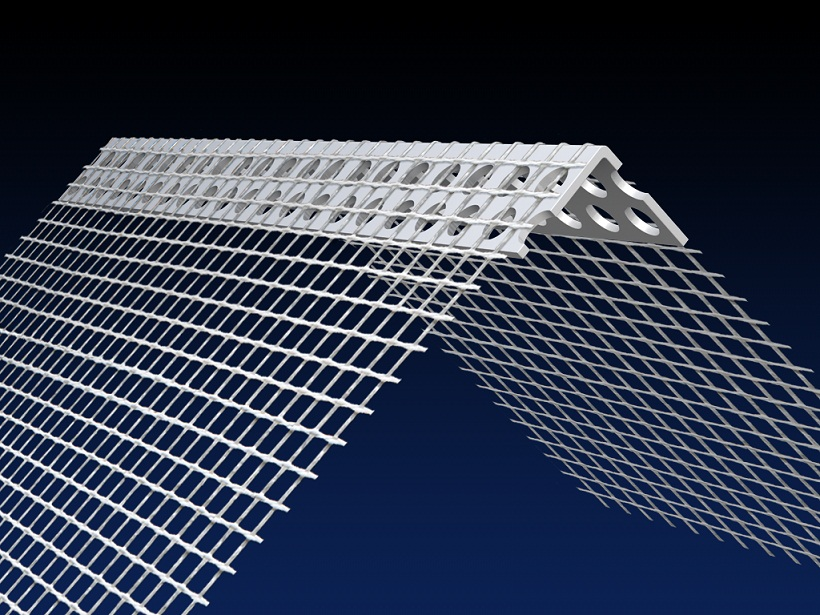 Renderplas PVC EWI corner / angle bead - 150 x 100mm - CB0MESH. 