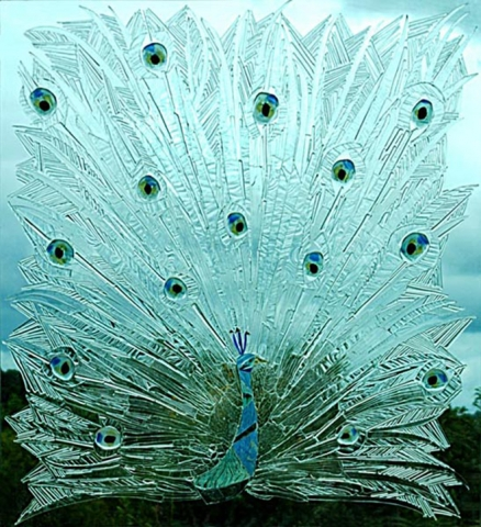 Glass window mosaic - Peacock Gallery Image