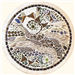 2ft round ceramic and glass mosaic - Slipstream Gallery Thumbnail
