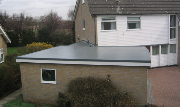 The Cure It GRP flat roofing system used on a garage roof Gallery Image