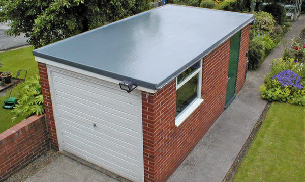 Cure It GRP Roofing System used on this flat garage roof Gallery Image