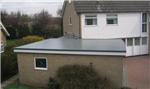 The Cure It GRP flat roofing system used on a garage roof Gallery Thumbnail
