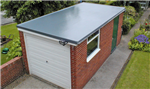 Cure It GRP Roofing System used on this flat garage roof Gallery Thumbnail
