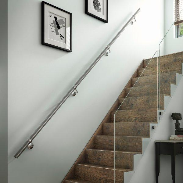 Handrail kits in Brushed Silver. Gallery Image