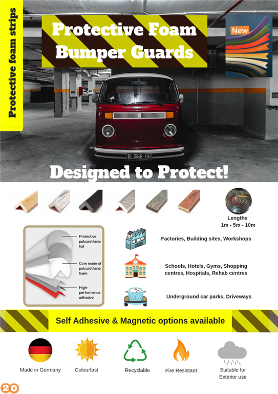 Safety Foam adhesive strips, suitable for indoor & outdoor. Gallery Image