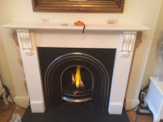 Installed fireplace and gas fire Gallery Image