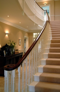 Painted Curved Staircase Gallery Image