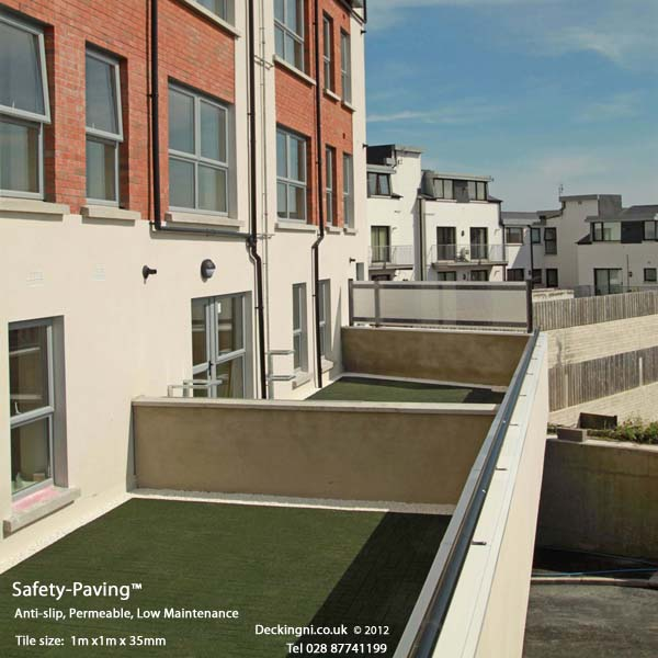 Balcony Paving - Safety Paving -Green Gallery Image
