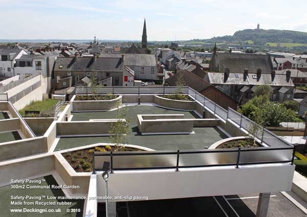 Balcony Paving - Safety-Paving -  Roof Garden over Car Park Gallery Image