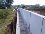 Retaining Wall with Water Channel Gallery Thumbnail