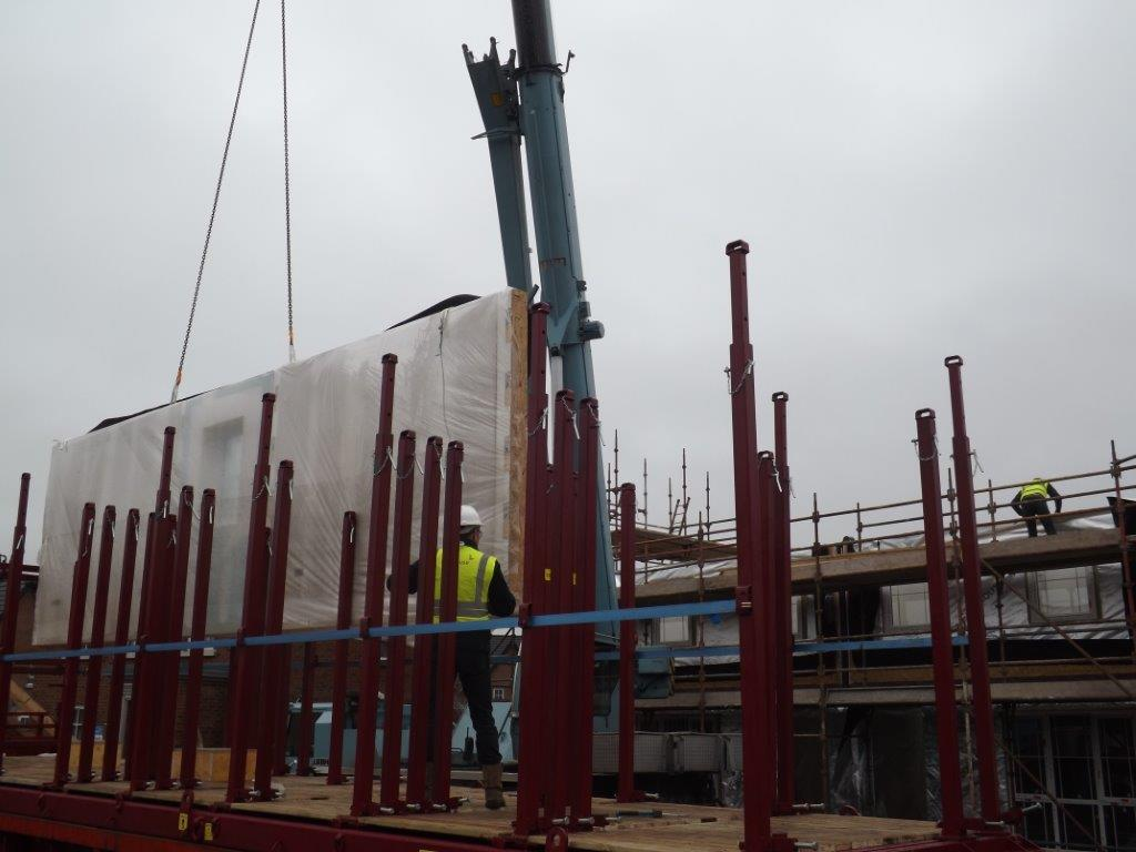 Timber Frame house on site off site loading unloading Gallery Image