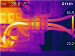 A Thermal Image Of A Cables, Where One Of The Cable (Hot Spot) Is Showing A Deficiency. The Naked Eye Could Not Detect This. Use Geo Therm Ltd To Help You Find Any Electrical Issues. Gallery Thumbnail