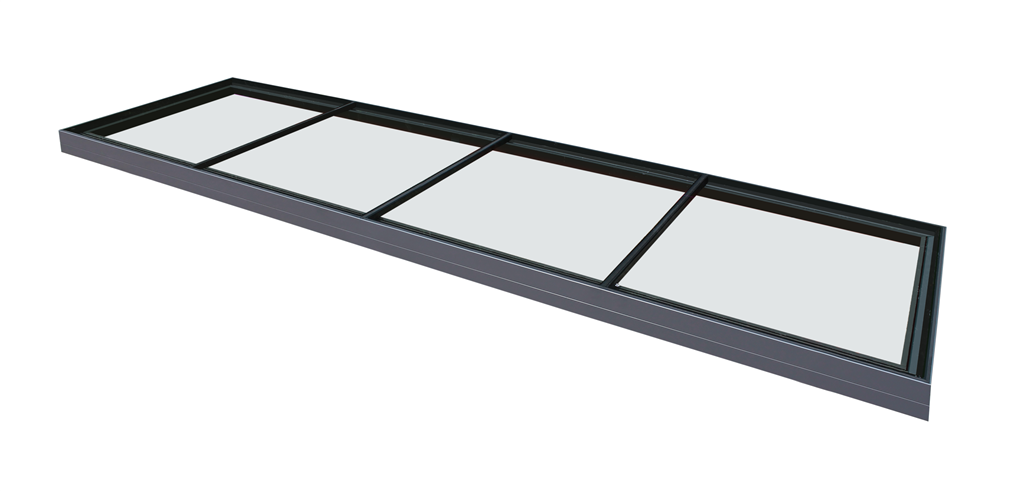 Multi-part, multi section flat glass rooflight with aluminium framework Thermalight skylight  Gallery Image