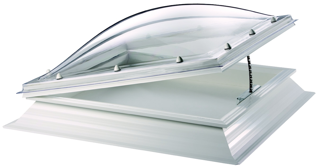 polycarbonate rooflight with electric hinge mechanism Thermadome Gallery Image