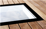 Walk on glass rooflight for roof terraces and balconies Solarglaze skylight Gallery Thumbnail