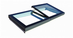 multi section opening skylight in flat glass manual or electric hinged Solarglaze Gallery Thumbnail