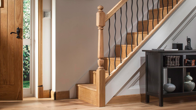 Iron Contemporary Round Stair Balustrade Gallery Image
