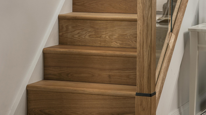 Oak Engineered Stair Klad Wood Cladding Gallery Image