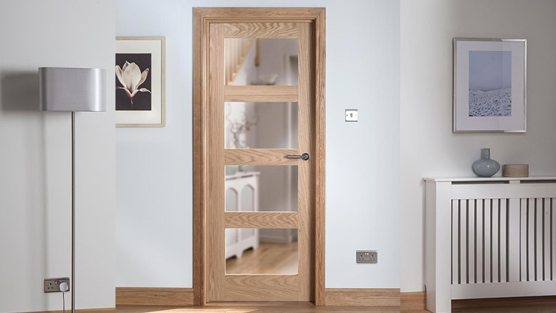 Cheshire Mouldings Cheshire Shaker Glazed Oak Interior Door Gallery Image